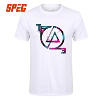 Summer T Shirt Colorful Linkin Park Competition Entry Ink Style Vintage Logo Man Crew Neck Short