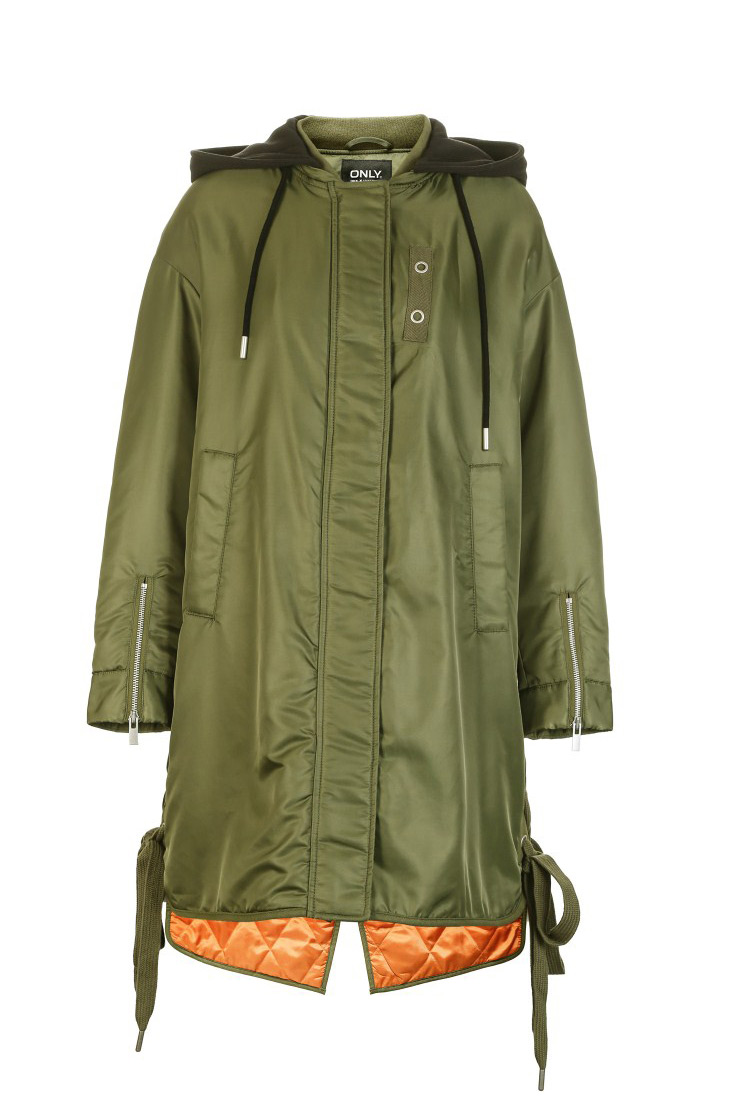 ONLY Women's Lace-up Hooded Cotton Coat |118122502 16