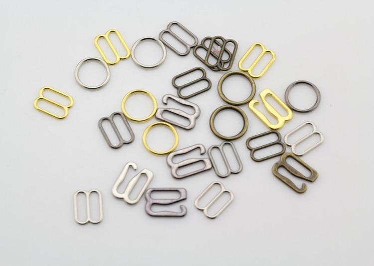 Free Shipping 100 Pcs / Lot Silver/Gold/bra Rings Sliders Hooks 10mm/12mm/15mm