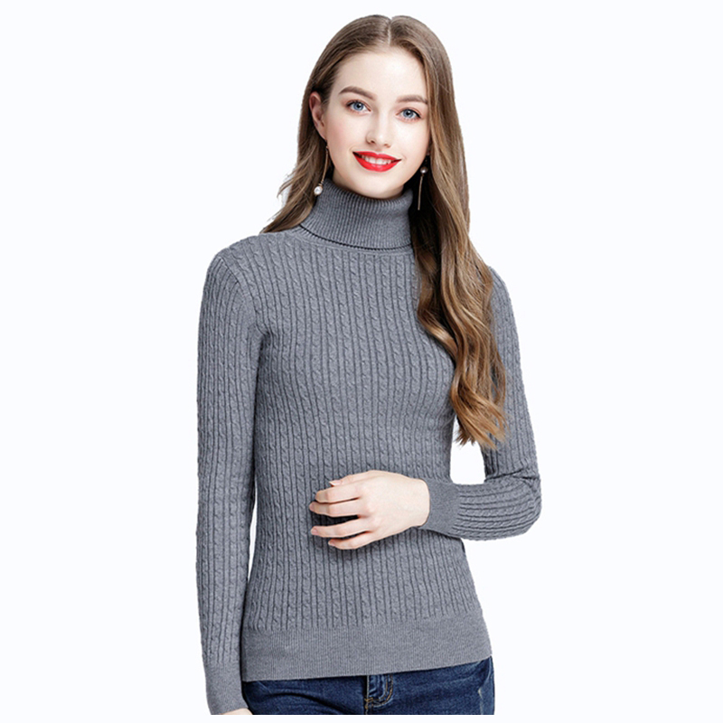 Jumper Women Sweater Pullover Warm Turtleneck Plus Size Casual Full Sleeves Fashion Korean Version Warm Soft Knitted Tops