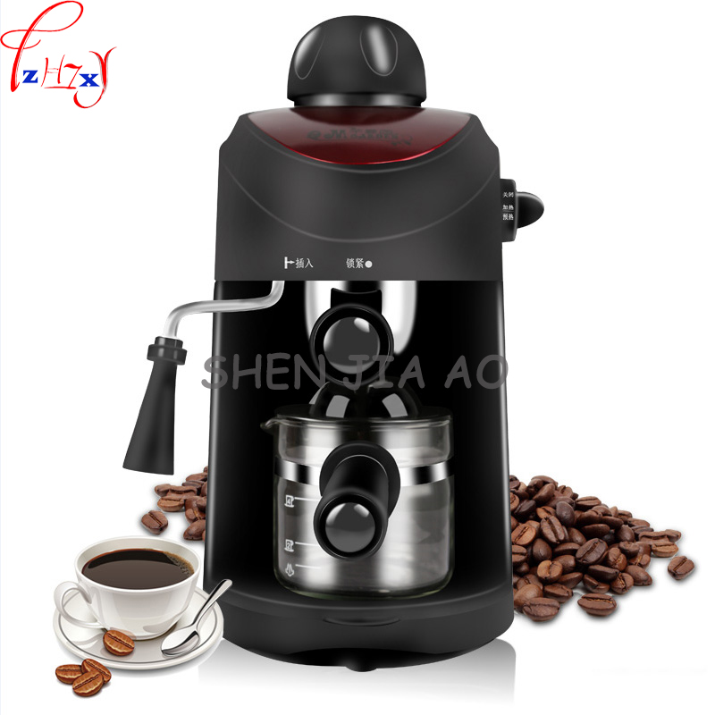 Home semi-automatic multi-functional Italian high-pressure coffee machine small commercial steam-type coffee machine 220v 1pc home intelligent fully automatic american style coffee machine drip type small is grinding ice cream teapot one machine