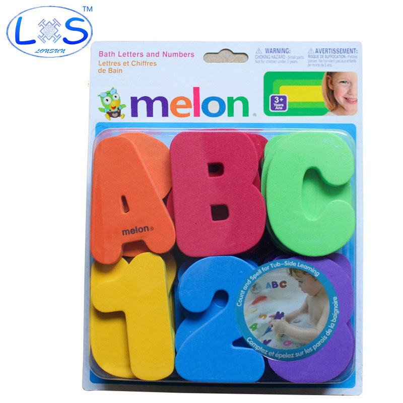 36 Piece MunchkinS Child Puzzle Baby Toy Bath Letters Numbers ...