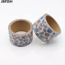 Лучшие Jbfish Высокое качество цветок одуванчика Васи Бумага маскирования Клейкие ленты S Скрапбукинг цветочный Клейкие ленты подарочная упаковка Стикеры 9004