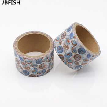 JBFISH High Quality Dandelion Flower Washi Paper Masking Tapes Scrapbooking Floral Tape Gift Wrapping Sticker 9004 цена 2017