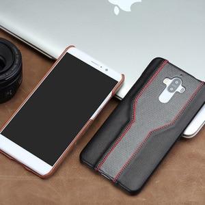 Image 5 - 화웨이 노바 2 플러스 휴대 전화 케이스에 대한 wangcangli 휴대 전화 쉘 고급 사용자 정의 소 가죽 및 다이아몬드 질감 가죽 케이스