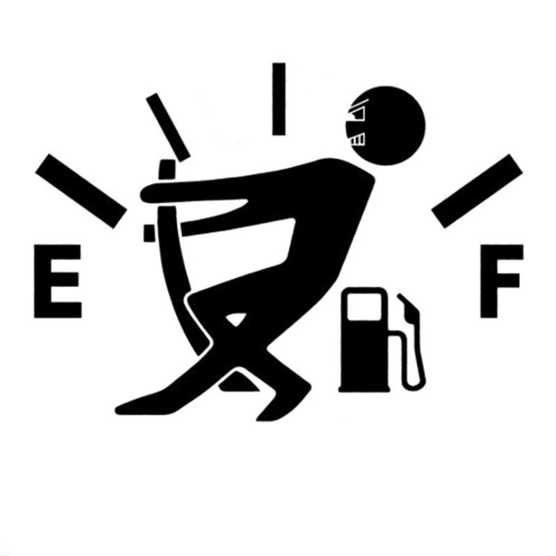 Car High Gas Consumption Decal Fuel Gage Empty Stickers
