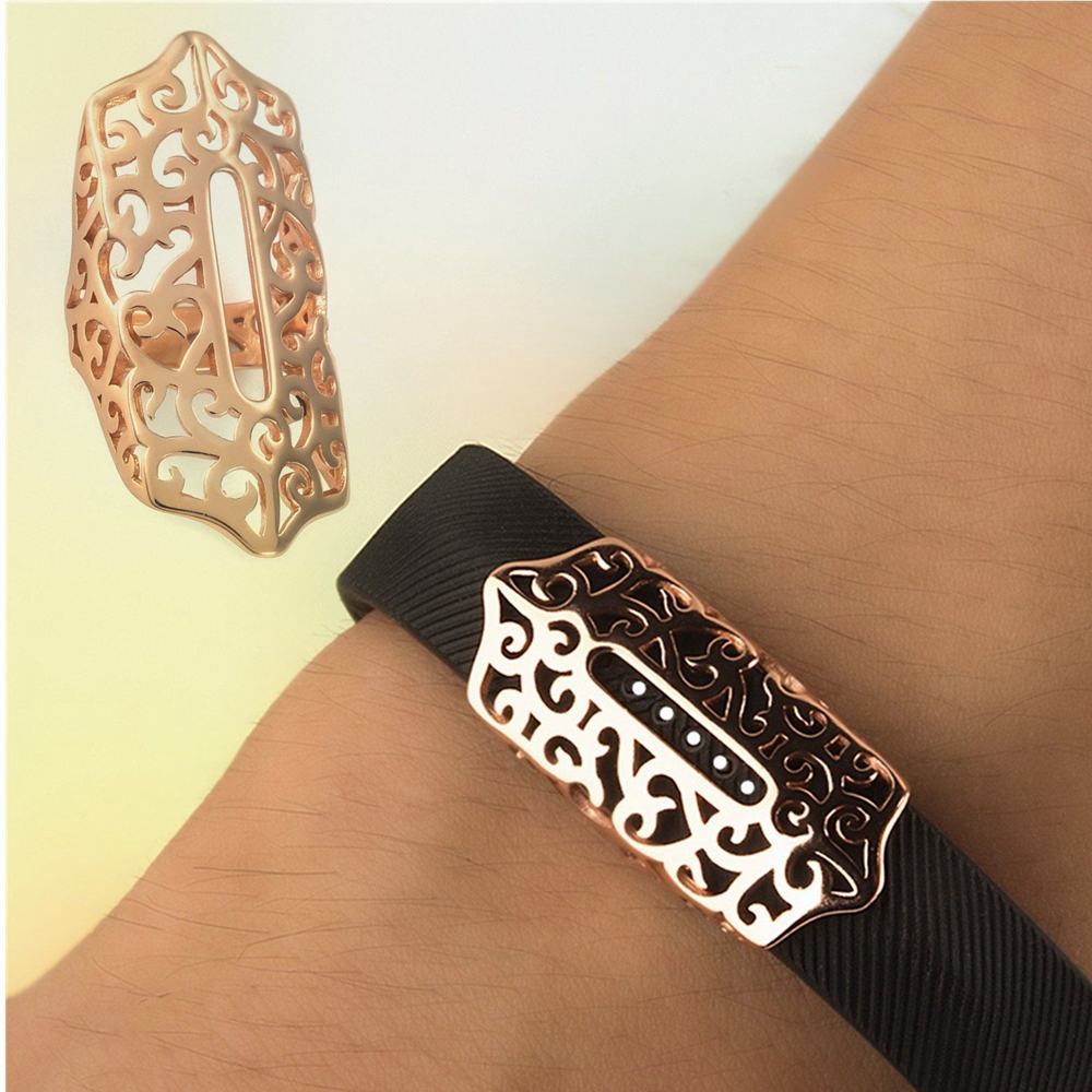 Fashion Stainless Steel Clasp Decoration Accessory for Fitbit Flex2 Tracker Band