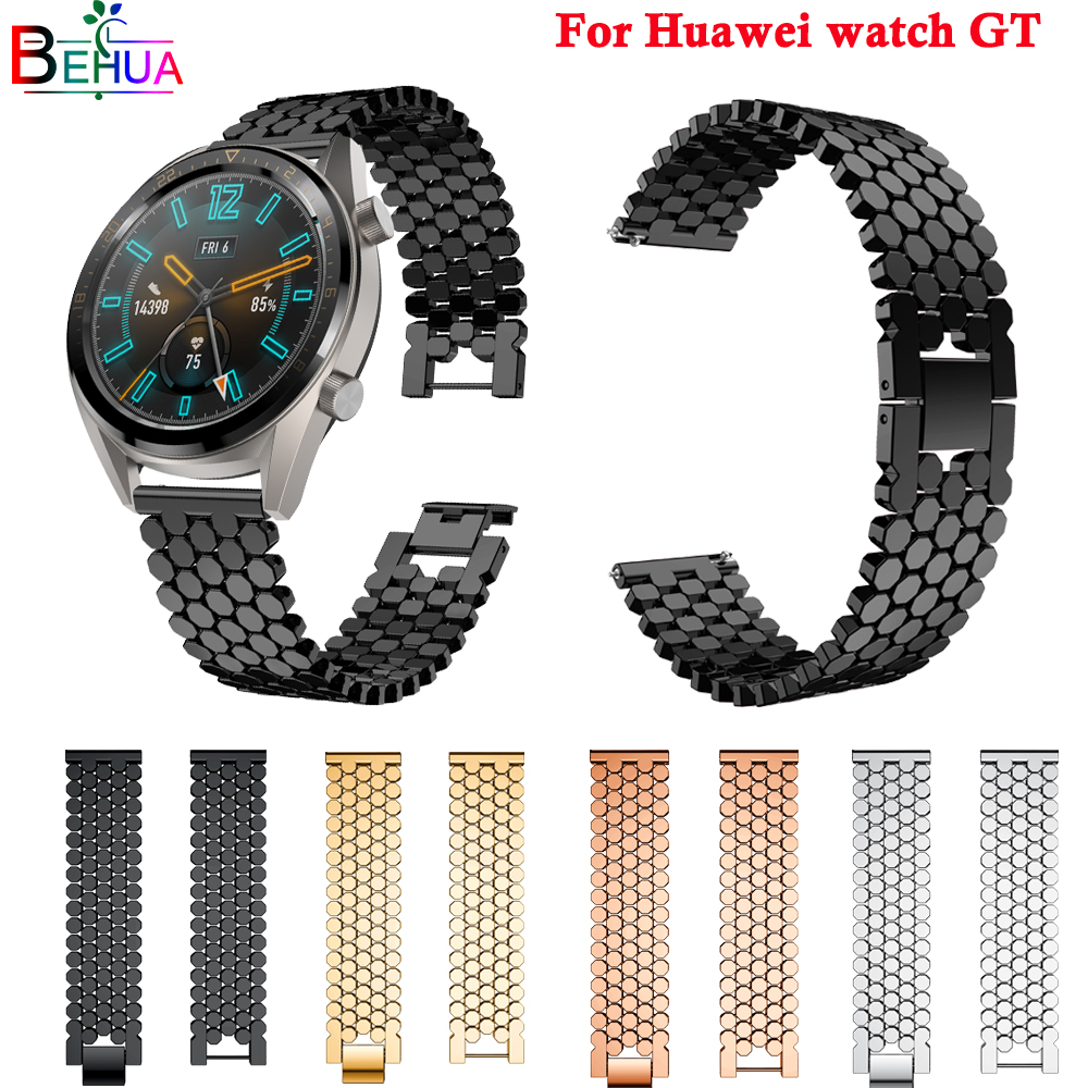 watch band Accessories For Huawei GT smart strap 46mm fashion Stainless Wristband bracelet 22mm