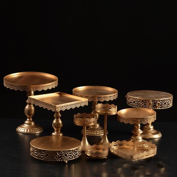 Set of 10 Pieces Gold Cupcake  Cake Stand Dessert Candy Bar