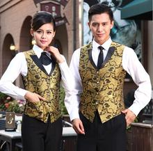 Women Night Club Waitress Vest Uniform Bright Color Bar Men Waiter Vest Clothing Hotel Restaurant Work Wear 89