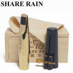 Partager pluie fait main réparation Bb ténor saxophone métal embouchure la copie rovner/ténor sax embouchure