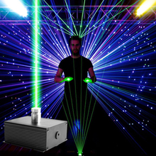 Laser Lights Combinations Stage DJ Music Show Pedal Control Lighting Red Green Activated Party