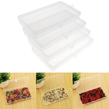 4pcs Transparent Plastic Hardware Tool Box Collection Container Case with Lid Sample box parts jewelry phone accessories