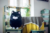big new plush black cat toy creative fat cat doll gift about 40cm