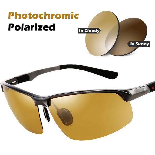 4b26235d561 Men s Day Night Photochromic Polarized Sunglasses Male Sunglasses Male  Riding Cycling Driving Fishing Night Goggle UV400 Glasses