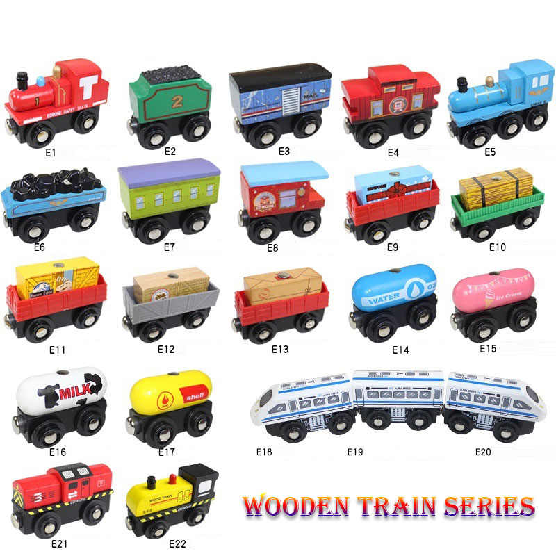 Magnetic Wooden Trains Model Toys Wooden Train Track Universal Accessories Compatible With Most Brand Tracks And Thoma Tracks
