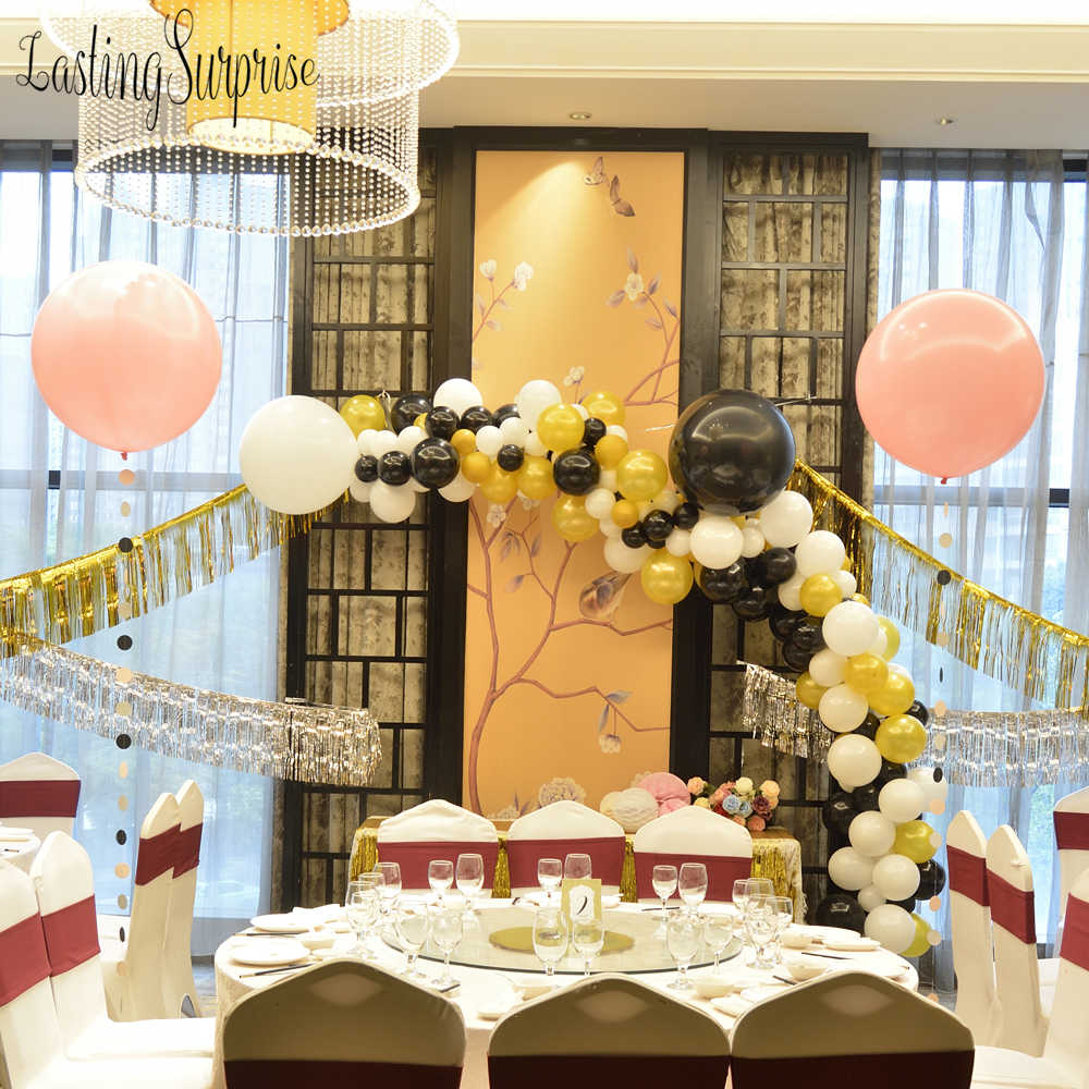Black White Gold DIY Party Balloon Decoration Birthday Decorations Adult 36 Gaint Helium