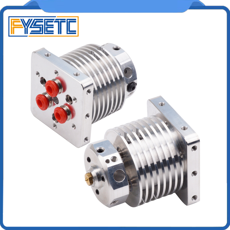 3D Printer Multi-extrusion 3 In 1 Out Hotend Extruder Full kit Multi Color nozzel Hot End 0.4mm/1.75mm Filament for PLA ABS new 3d printer parts extrusion single head hot end multi color extruder 2 in 1 out cyclops hotend 0 4mm stainless steel nozzle