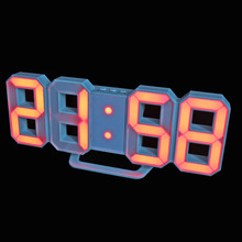 New LED Alarm Clocks Desktop Table Digital Watch LED Wall Clocks 24 or