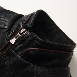 Image 5 - Bolubao גברים עור זמש מעיל אופנה סתיו אופנוע עור מפוצל זכר חורף מפציץ מעילי הלבשה עליונה דמוי עור מעיל