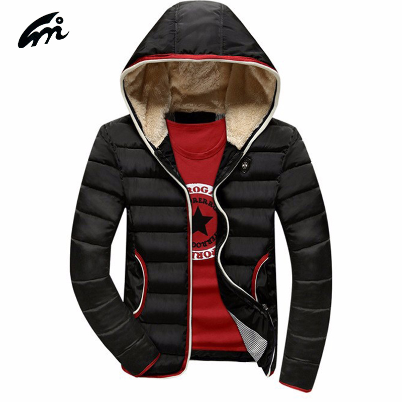 2017 men's winter jacket men's fashion cotton liner thick cotton coats casual winter parka, hooded outwear slim fit jackets men