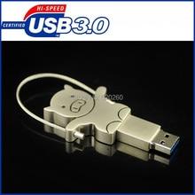 64GB pen drive, Metal Pig USB Flash Drive USB3.0 Disk 64GB 32GB 16gb 8gb Stainless steel Pen Drive Memory Card,Free Shipping!