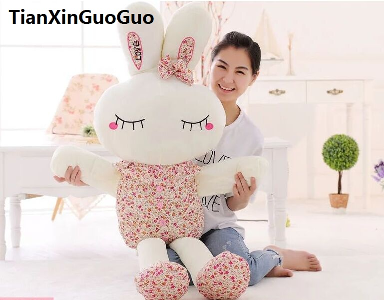 stuffed toy large 150cm floral rabbit plush toy soft throw pillow birthday gift w2969 stuffed plush toy huge 95cm prone panda doll soft throw pillow birthday gift b0487