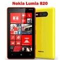 "Lumia 820 original desbloqueado nokia lumia 820 smartphone 8mp gps gsm 4.3 ""pantalla táctil capacitiva de bluetooth wi-fi envío libre del ccsme"