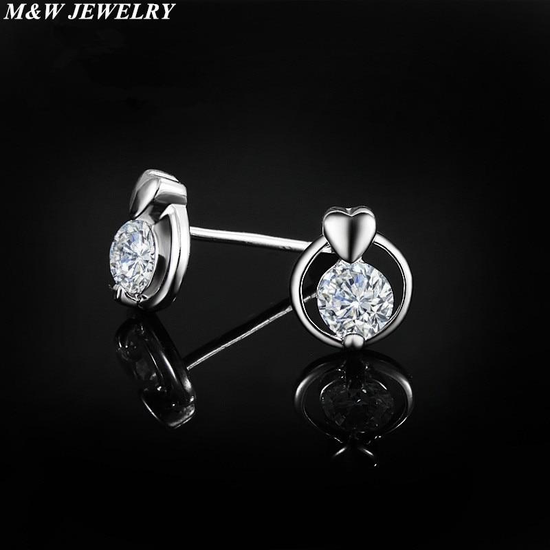 M&W JEWELRY fine trinkets sterling silver jewelry hot sale 925 sterling silver earrings CZ earrings burst jewelery