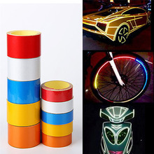 1CM*5M DIY Reflective Sticker Automobile Luminous Strip Car & Motorcycle Decoration Decals Vinyl Free Shipping