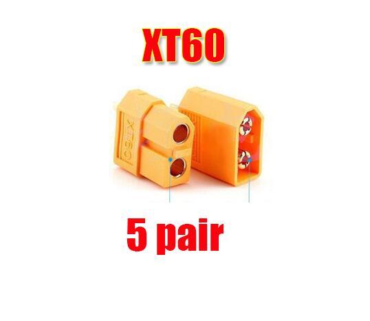 10/20 штук XT60 XT-60 штекерно-разъемы Вилки провод с силикатной гелевой обмоткой для Батарея(5/10 пар - Цвет: 5 pair XT60