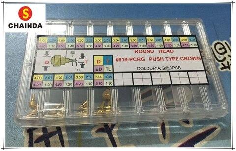 Empurradores para Chronograph Relógios do Relógio Cor de Ouro Inoxidável Parte Fricção Botão Aço