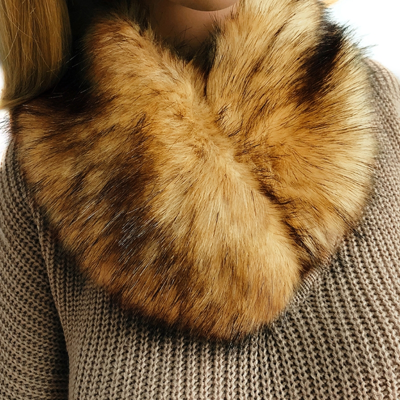 Women Winter Faux Fur Collar Neck Warmer   Scarf     Wrap   Shrug Wedding Evening Party