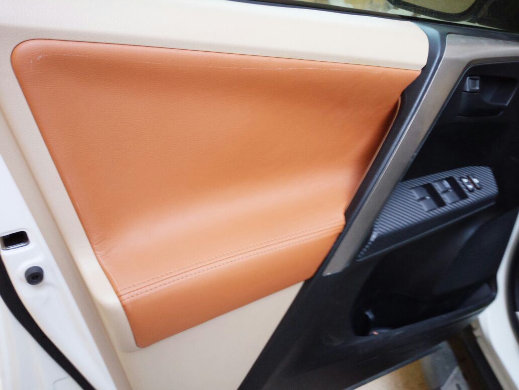 Customzied Color Microfibre Leather Interior Door Panel Armrest Cover For  Toyota RAV4 2013 14 15 16 2017 AB251