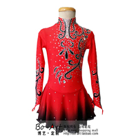red ice skating clothes for women custom competition expensive skating clothing for girls hot sale clothes for ice skating