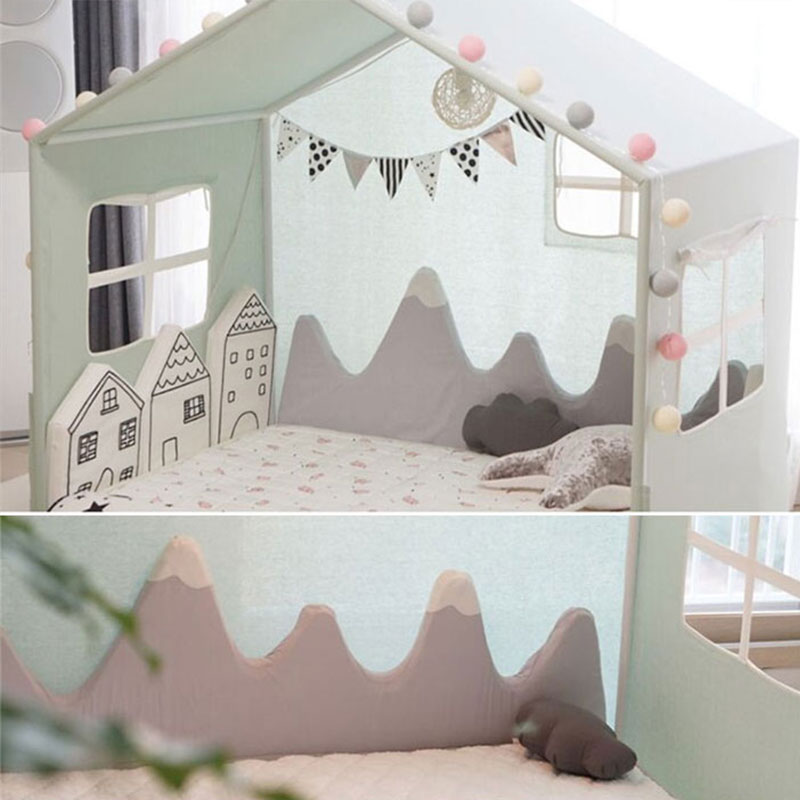 Kids Bed Crib Bumper Mountain Shape Crib Sides Protector Newborn  Baby Room Decor Safety Cotton Blend Plush Pillow Baby Be