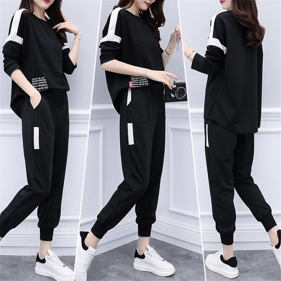 2019 Spring Summer 2 Piece Outfits For Women Hoodie Set Causal Tracksuit Top And Pants Suit Female Sportswear Outfit