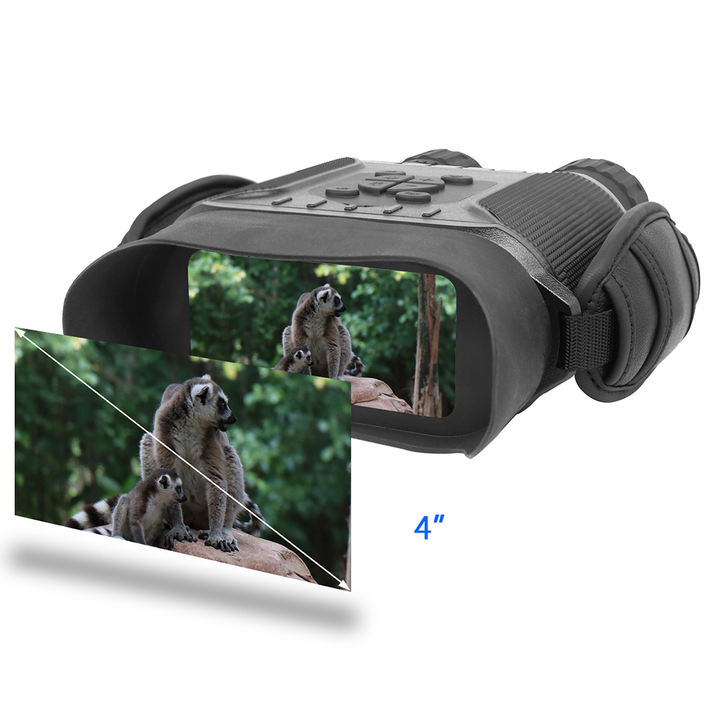 Time HD Screen Vision 32G Telescope 5X40mm IPX4 Hunting Zoom Lapse 4 5x 400M Monocular Big Infrared Bestguarder Night Binoculars