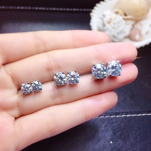 Image 2 - Moissanite ongles à oreilles en argent Sterling 925, recommandation de style populaire, produits de remplacement en diamant à haute dureté