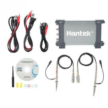 6104BC 4 Channel 1GSa/s 100Mhz Bandwidth Hantek PC Based USB Digital Storage Oscilloscope Generator image