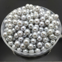4mm-10mm Gray Imitation Pearls Round Pearl Spacer Loose Beads DIY Jewelry Making Necklace Bracelet Earring Accessories(China)