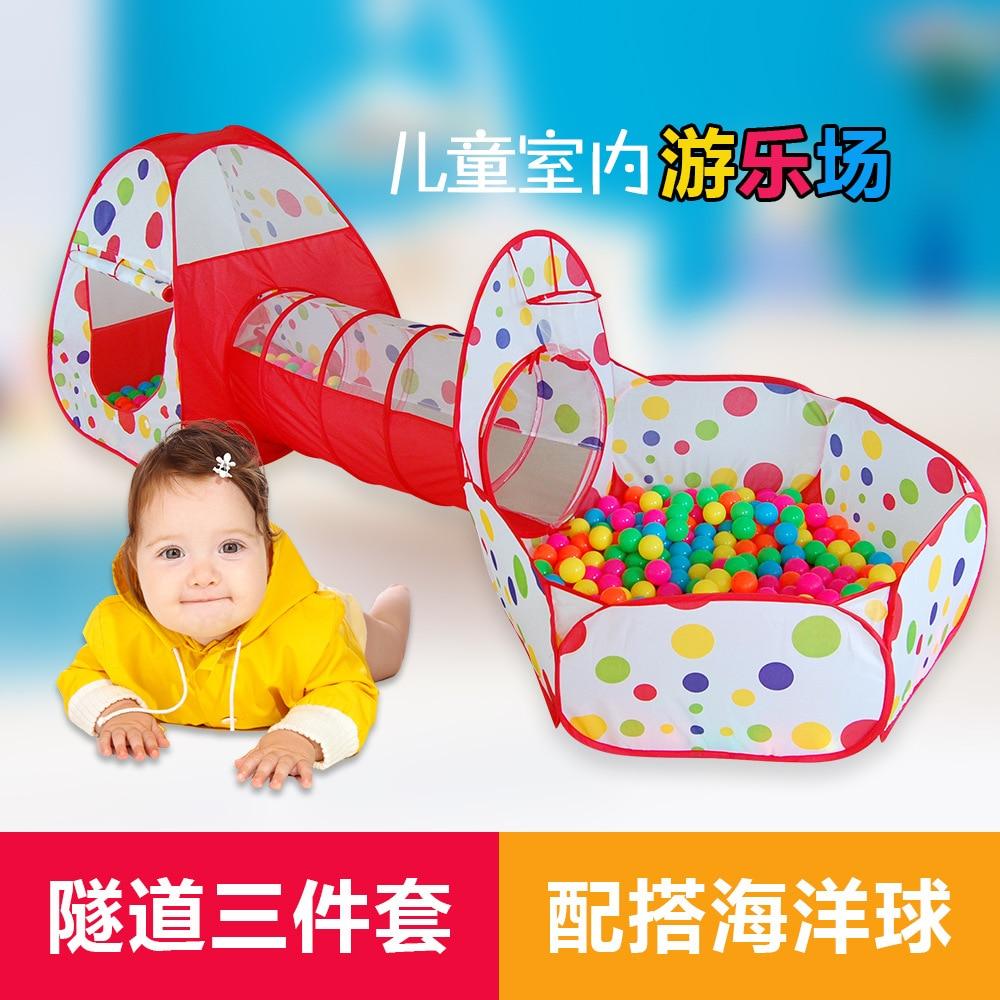LM1321 3 шт./компл. складной малышей туннель Pop Up Play палатка игрушки для детей Крыты ...