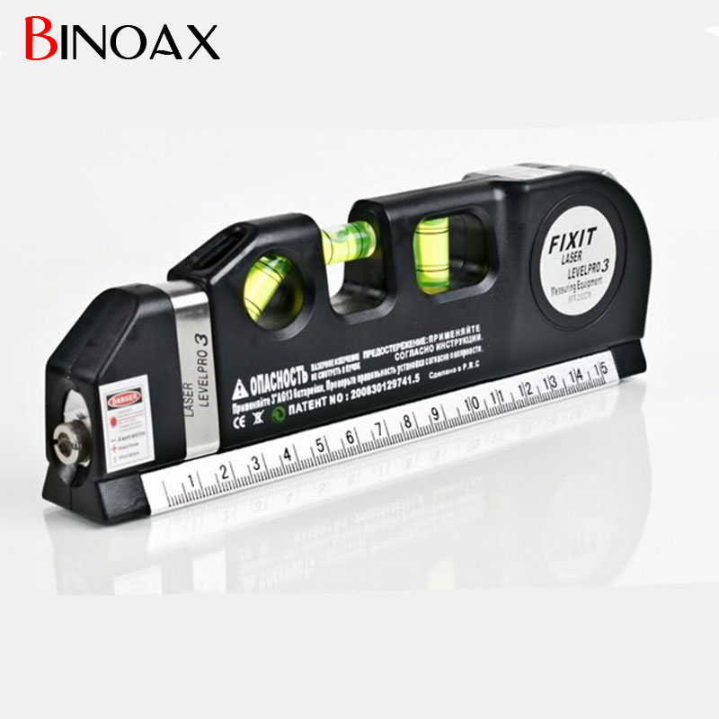 Binoax Multipurpose Level Laser Horizon Vertical Measure Tape Aligner Bubbles Ruler