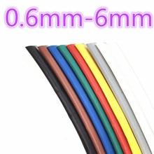 1meter 2:1 9 Colors 0.6mm 0.8mm 1mm 1.5mm 2mm 2.5mm 3mm 3.5mm 4mm 4.5mm 5mm Heat Shrink Heatshrink Tubing Tube Wire Dropshipping цена в Москве и Питере