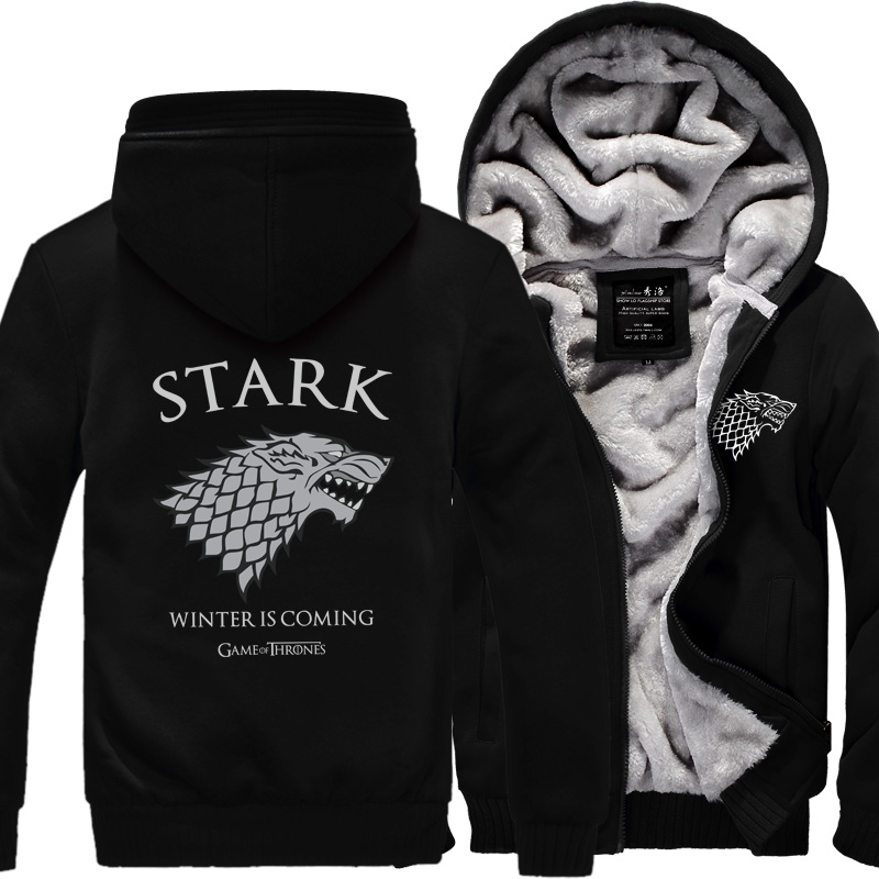 hot sale 2018 autumn winter bodybuilding sweatshirt Men House Stark Mens thick jacket A Song of Ice and Fire Winter Is Coming ...
