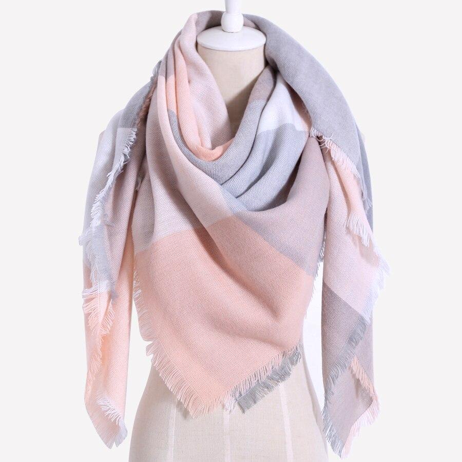 Fashion Brand Plaid Design Women Scarves Warm Winter Cashmere Oversize Square blanket Shawl 140cmX140cm Wholesale Drop shipping