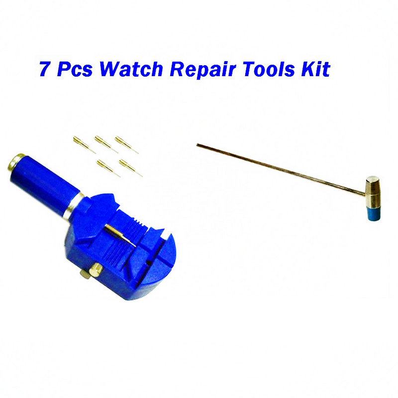 A016 7pcs Watch Link Remover Tool Band Slit Strap Bracelet Pin Adjuster Repair Tools цена и фото