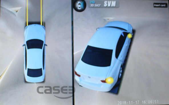 Автомобильный HD 3D 360 градусов панорамный обзор система камер 1080P Парковка Реверсивный резервный cam живой динамический Направляющая линия опционально