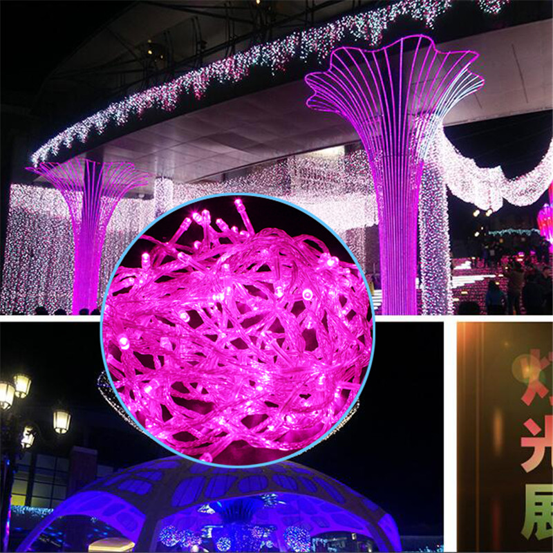 2016 HOT Indoor LED lamp festa de casamento 400LED 50M 220V Decoration Multicolour color ...