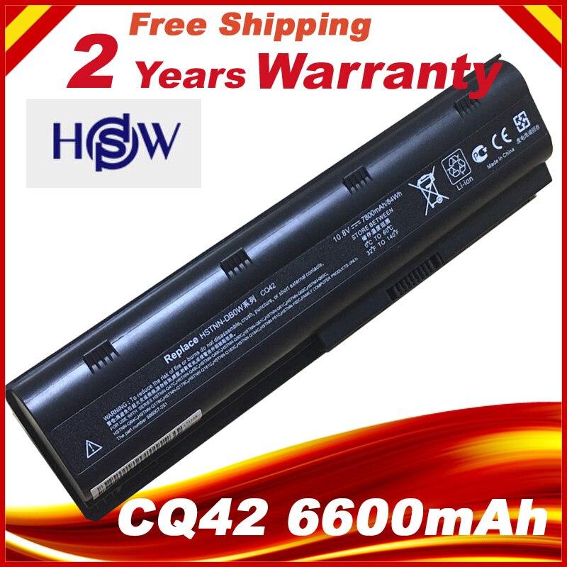 7800mAh Laptop Battery For HP COMPAQ CQ42 CQ43 CQ56 CQ57 CQ58 CQ62 CQ72 HSTNN-DB0W HSTNN-IB0W HSTNN-LB0W HSTNN-LB0Y цена
